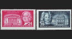 DDR115-116 : 1953 - 2 val. DDR 'Knobelsdorf