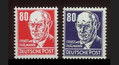 DDR103-104 : 1953 - 2 valeurs DDR 'Ernst Thälmann