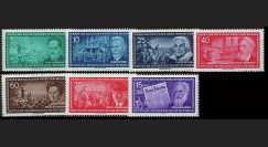DDR203-209 : 1955 - 7 valeurs DDR 'Anciens leaders du Mouvement du Travail - Thälmann'