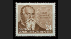 DDR135 : 1953 - 1 valeur DDR 'Peintre Lucas Cranach'