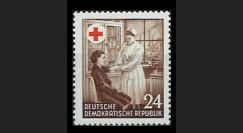 DDR136 : 1953 - 1 valeur DDR '1 an de la Croix Rouge de la RDA'