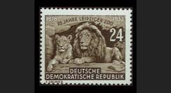 DDR138 : 1953 - 1 valeur DDR '75e anniversaire du Zoo de Leipzig'