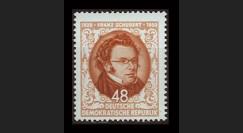 DDR139 : 1953 - 1 valeur DDR '125e anniversaire de la mort de Franz Schubert'