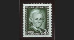 DDR146 : 1954 - 1 valeur DDR '225e anniversaire de l'écrivain Gotthold Ephraim Lessing'