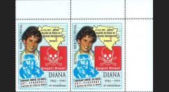 BOSN97V : 1997 - Vignettes 'Diana - Campagne de lutte contre les mines anti-personnel'
