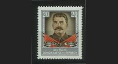 DDR163 : 1954 - 1 valeur DDR '1er anniversaire de la mort de Staline'