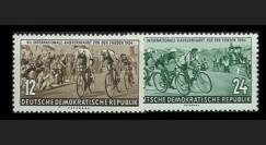 DDR164-165 : 1954 - 2 valeurs DDR '7e course cycliste internationale de la Paix'