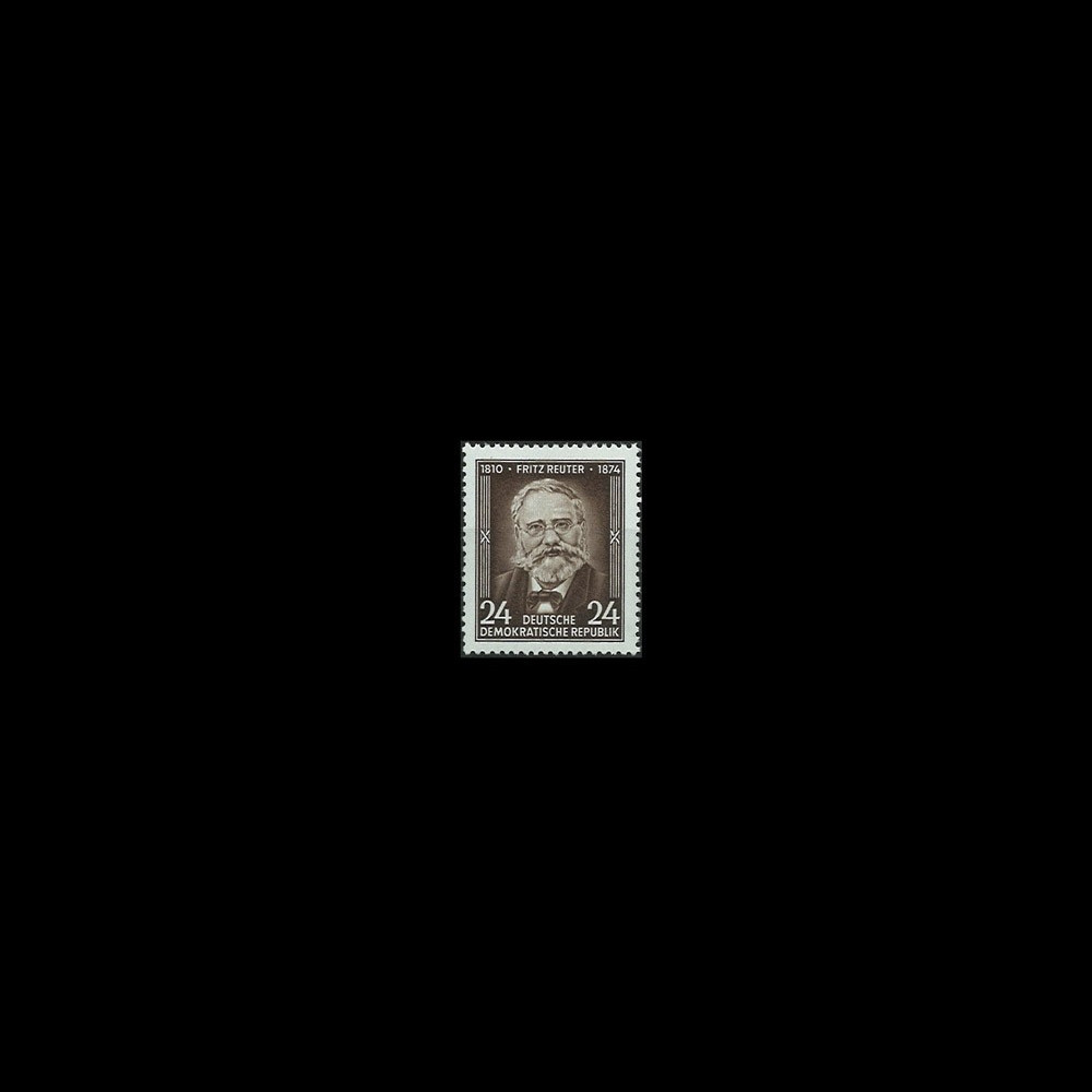 DDR168 : 1954 - 1 valeur DDR '80e anniversaire de la mort de l'écrivain Fritz Reuter'