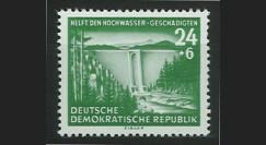 DDR169 : 1954 - 1 valeur DDR 'au profit des victimes des innondations de l'hiver 54'