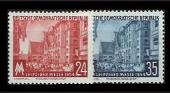 DDR171-172 : 1954 - 2 valeurs DDR 'Foire d'automne de Leipzig'