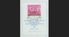 DDR4BF : 1954 - Bloc-feuillet non-dentelé 'Journée du Timbre - Berlin 1954'