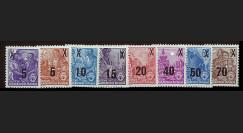 DDR176-183 : 1954 - 8 valeurs '3e série Plan quiquennal - surchargée'