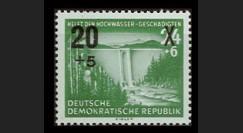 DDR184 : 1955 - 1 val. DDR 'pour les victimes des innondations de l'hiver 54 - surchargé'