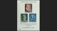DDR6BF : 1955 - Bloc DDR '150e anniversaire de la mort du poète Friedrich von Schiller'