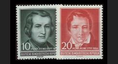 DDR237-238 : 1956 - 2 valeurs DDR 'Centenaire de la mort de l'écrivain Heinrich Heine'