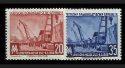 DDR239-240 : 1956 - 2 valeurs DDR 'Foire de Printemps de Leipzig'