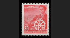 DDR253 : 1956 - 1 valeur DDR '10e anniversaire de la nationalisation des entreprises'