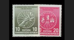 DDR246-247 : 1956 - 2 valeurs DDR '9e course cycliste internationale de la Paix'