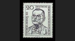 DDR256 : 1956 - 1 valeur DDR '1er anniversaire de la mort de l'écrivain Thomas Mann'