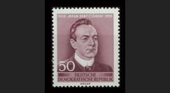 DDR260 : 1956 - 1 valeur DDR 'Centenaire de la naissance du poète JB Cisinski'