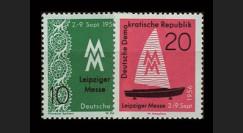 DDR261-262 : 1956 - 2 valeurs DDR 'Foire d'automne de Leipzig'