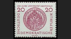DDR266 : 1956 - 1 valeur DDR '5e centenaire de l'Université de Greifswald'