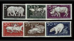 DDR276-281 : 1956 - 6 valeurs DDR 'Réouverture du zoo de Berlin'