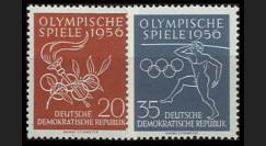 DDR267-268 : 1956 - 2 valeurs DDR 'Jeux Olympiques de Melbourne'