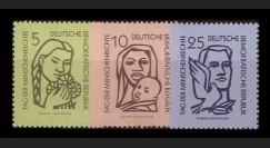 DDR273-275 : 1956 - 3 valeurs DDR 'Journée des Droits de l'Homme'