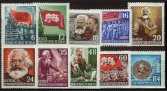 DDR80-89 : 1953 - 10 valeurs DDR '70e anniversaire de la mort de Karl Marx'