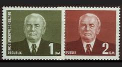 DDR78-79 : 1953 - 2 val. DDR 'Wilhelm Pieck