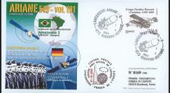 V191L-T2 : 2009 - FDC Kourou Vol 191 Ariane 549 - Amazonas 2 & COMSATBw-1