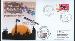 V192L-T1 : 2009 - FDC Kourou Vol 192 Ariane 550 - NSS 12 et THOR 6