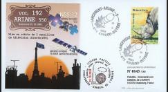 V192L-T2 : 2009 - FDC Kourou Vol 192 Ariane 550 - NSS 12 et THOR 6