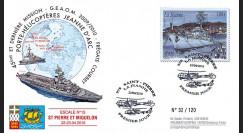 """NAV09JA-20A : 2010 - Pli Premier Jour """"Escale du PH Jeanne d'Arc à St-Pierre-et-Miquelon"""