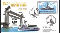 """NAV09JA-23A : 2010 - Pli """"Escale du PH Jeanne d'Arc à Rouen"""