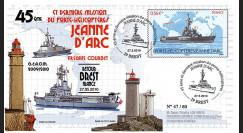 """NAV09JA-24A : 2010 - Pli """"Retour de mission du PH Jeanne d'Arc à Brest"""""""