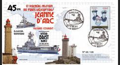 """NAV09JA-24C : 2010 - Pli """"Retour de mission du PH Jeanne d'Arc à Brest"""" - oblit. GF"""