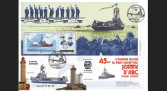 """NAV09JA-24B : 2010 - Pli """"Retour de mission du PH Jeanne d'Arc à Brest"""" - oblit. GF + bloc"""