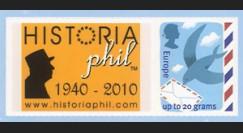 """DG10-GB2 : 2010 - TPP GB """"Historiaphil 1940-2010"""" célébration Appel du 18 juin à Londres"""