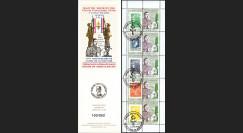 """DG10-9C1 : Carnet porte-timbre """"70e anniversaire Appel 18 juin 1940"""" - TVP Marianne vert"""
