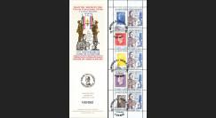 """DG10-9C3 : Carnet porte-timbre """"70e anniversaire Appel 18 juin 1940"""" - TVP Marianne bleu"""