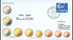 PE570-BEL : 2009 - FDC Belgique '1er Jour TP 10 ans de l'Euro'