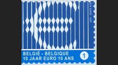 PE570-BEL-N : 2009 - TP Belgique '10 ans de l'Euro'
