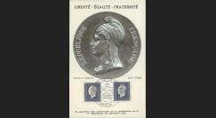 """W2-FR686-A1 : 1945 - CM 2x60c """"Marianne de Londres"""" oblit. Salon de la Marine"""