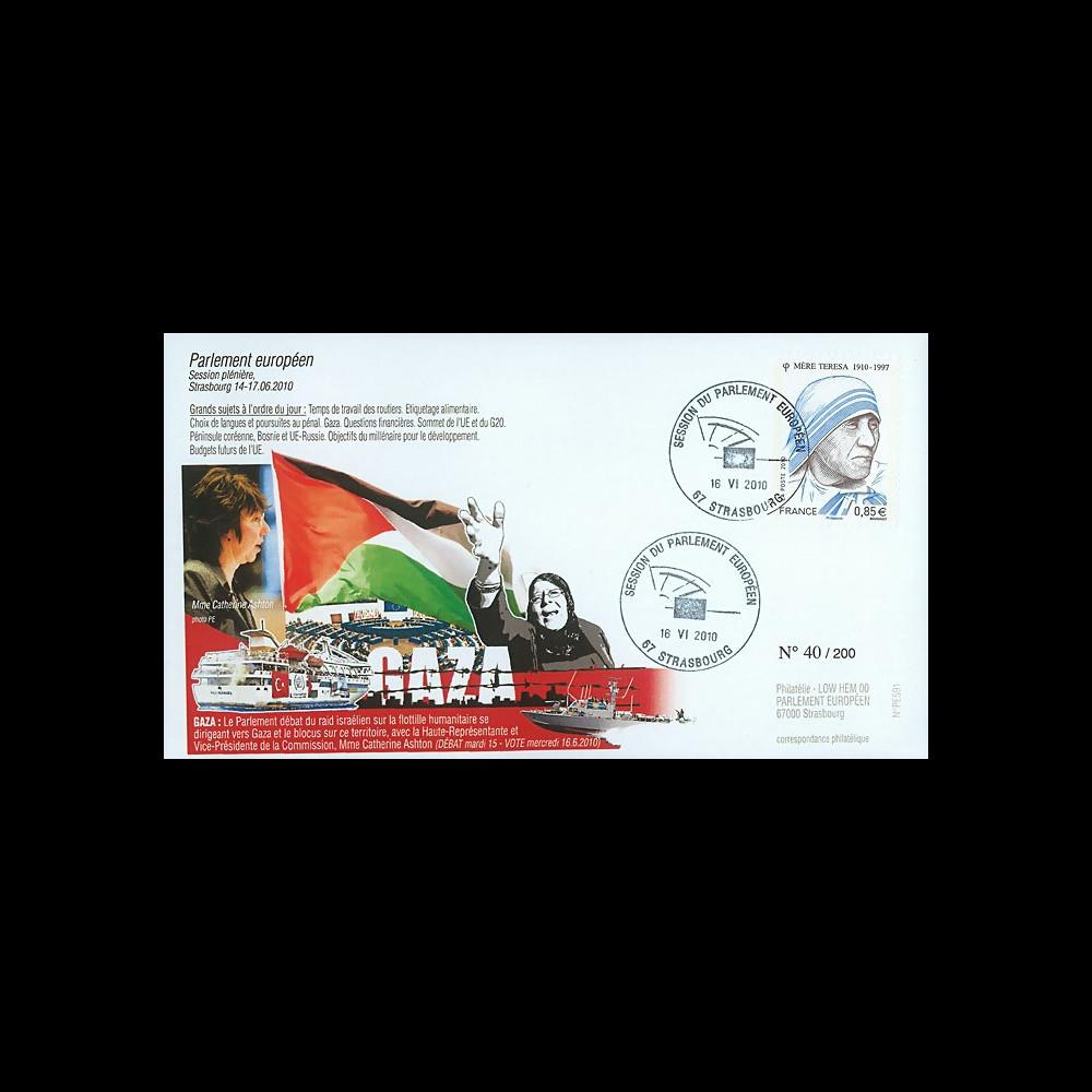 "PE591 : 2010 - FDC PE ""Débat sur Gaza avec Mme Ashton"