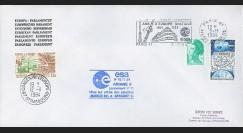"AR 23LB : 1984 - Env. off. Parlement eur. Ariane V11 - flamme ""20 ans d'Europe spatiale"""
