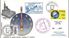 AR 24L-T1 : 1985 - FDC Ariane V12 - sat. ARABSAT-F1 et BRASILSAT-1 - affrt Energies nvelles