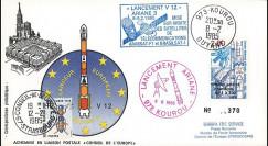 AR 24L-T3 : 1985 - FDC Ariane V12 - sat. ARABSAT-F1 et BRASILSAT-1 - affrt 20 ans du CNES