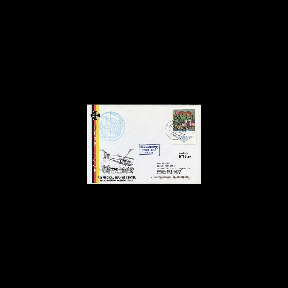 BFA96-1 : 1996 - Mission de maintien de la paix  - Brigade franco-allemande en Croatie